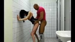 Slut Crossdress fucked in public Toilet