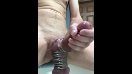 Restrained Shining Cock Cums 3 Times