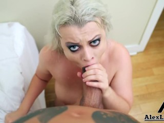 Busty Blonde Nadia White Sucks A Big Cock For A Huge Facial!