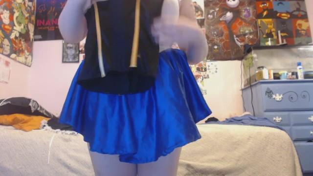 Sailor Moon Girlfriend Shows Her Sissy Boyfriend Costumes w/Humiliation 3