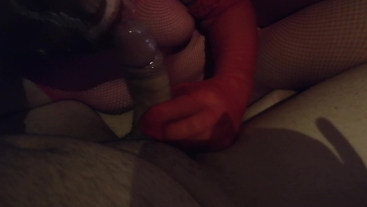First teen blowjoab in pantyhose on cam and choke with sperm in mouth