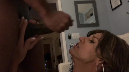 BBC jerks off in Glamgurlxoxo's mouth