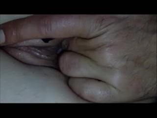 Creampie close up with my wife