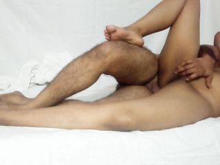 husband playing and rubbing wife wet pussy g-spot with loud moaning