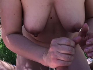 Real Public Nude Picnic, Blowjobs, Handjobs and Fuck MILF Hot Wife