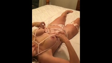 Hot milf 52 plays with herself