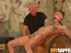 Kinky Sebastian Kane bounds and blindfolds his twink sub