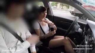 No panty teasing dealer's manager