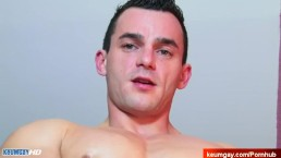 Real str8 neighbour serviced his big cock in a gay porn in spite of him.