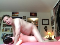 Humiliated Loser Fucks a Blowup Sex Doll
