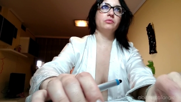 Hiccups while Working on my PC, Intense Nerdy Voyeur Clip, Amazing Cleavage