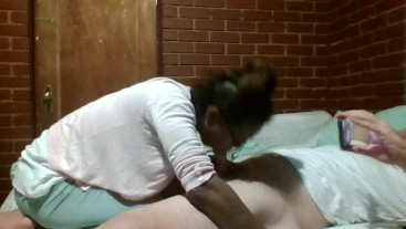 Handjob leads to insane blowjob leads to hardcore fucking
