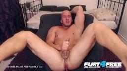 Adonis Hunk on Flirt4Free - Muscle Stud Bondage Torture Before Hot Cumshot