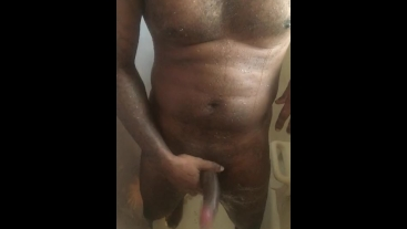 Hard in the shower stroking