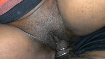 Creamy pussy on big black cock with rings