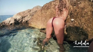 Amateur greece mouth sex cum in in on couple public beach leolulu a with real beach