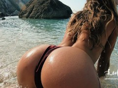 Sex on a Public Beach in Greece with Cum in Mouth! Amateur Couple LeoLulu