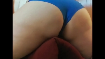 Masturbating/pillow hump, I was so horny I didn't know I would cum so fast