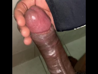 10INCH Black Monster COCK Cumming in the Shower HD