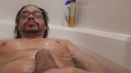 Chillin in tub have a early morning, will bust my1st nut after all weekend