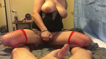 Hubby and wife masterbate together! Hot jerk off and vibrator masterbation!