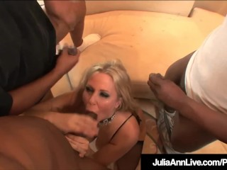 Milf Julia Ann Anal Fucked & Facialed By 4 Big Black Cocks!