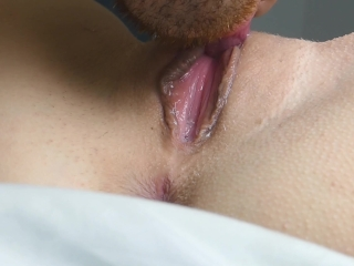 Licking clit and real wet orgasm