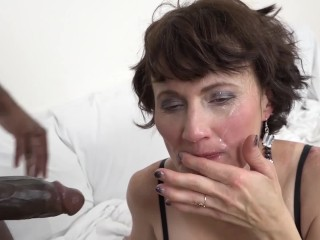 Interracial fuck for granny that wants anal sex...