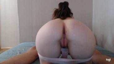 Sucks dick on hidden camera. Back view blowjob