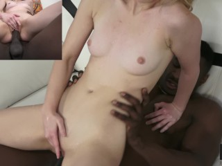 Teen in braces Anastasia Knight goes interracial for big black cock