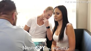 NANNYSPY Dad Makes His StepSon WATCH him FUCK his NANNY Girlfriend porno