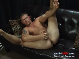 Butch BLONDE MUSCLE HUNK TOTAL BOTTOM With TOYS!!