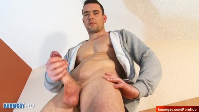 French gay porn actor - Real french str8 dude gets gilmed his huge cock in a gay porn