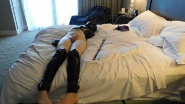 Bound Pale Femboy Teased and Toyed