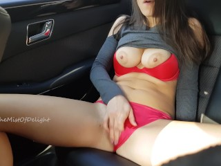 Wasnt caught while she masturbating on the backseat...