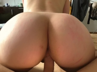 Amazing amateur cowgirl ride on my dick - Rate my wife's beautiful ass