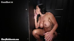 Jewels Jade come back for more Swallowing at Gloryhole. Episode 2
