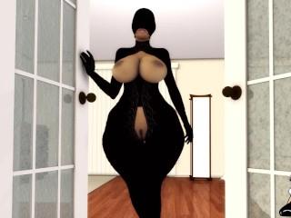 Big booty ebony gilf mrs jiggles gangbanged by...