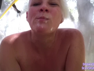 Public Sex Hanging from the Trees in a Hammock Tent
