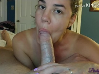 Reverse cowgirl quick sloppy blowjob leaves hubby in...