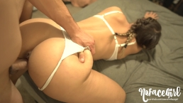 Fit Teen Has Passionate Fuck And Gets Double Creampie - Amateur NoFaceGirl