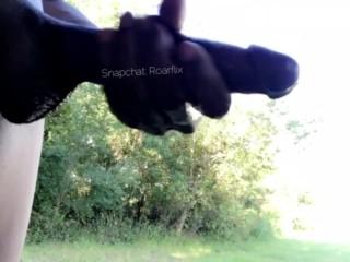 Niggia Strokin Monster BBC Cock In Public (slow Motion)