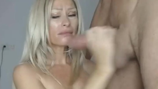 Hot Blonde MILF Stuffs Her Mouth with Dick 15