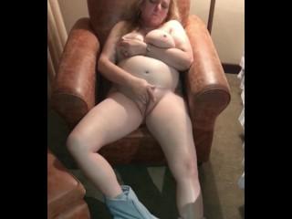 Naked horny wife fingering homemade...