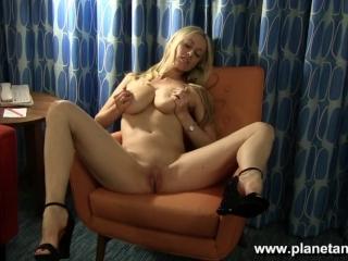 Striptease and Pussy Play at my hotel room - Pornstar Anita Dark