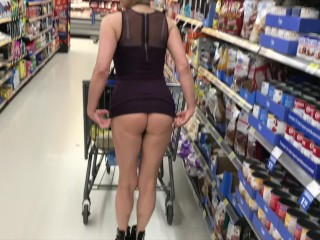 INCREDIBLE MILF ASS IN SHORT SKIRT IN DEPARTMENT STORE