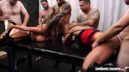 Huge breasted Milf gets creampied by younger guys