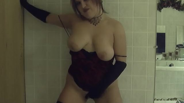 Stripper myspace layout Amateur wife strips in dark bathroom with gloves and nylons