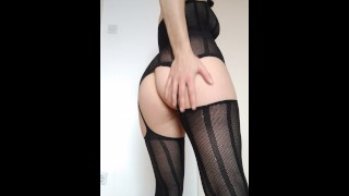 Lady in sexy lingerie