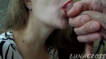 sweet morning blowjob from my depraved bitch with ending in mouth...mmm